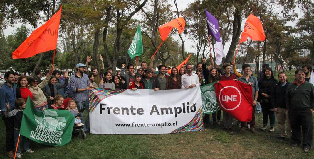 Message de soutien de Tomás Hirsch du Frente Amplio au Chili.